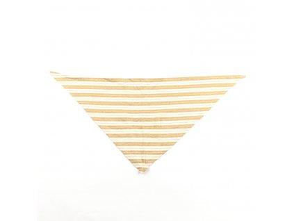 Pleteninový šátek třírohý