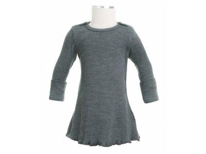 ManyMonths merino šaty s dlouhým rukávem
