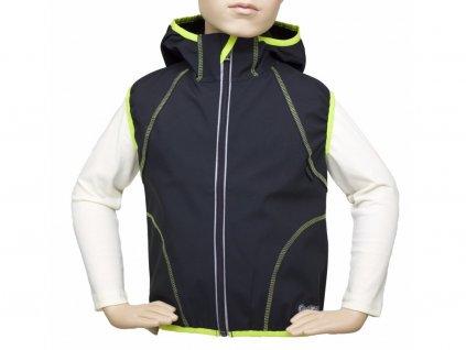 Dětská outdoorová vesta Fantom SOFTSHELL s kapucí