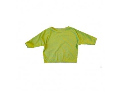 Dětský top netopýr 3/4 rukáv limet