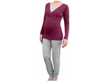 Pyžamo pro těhotné a kojicí, dlouhé