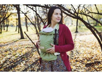 Nosítko Storchenwiege, zelené + dárek