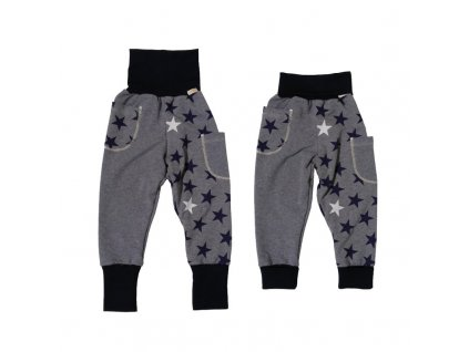 19107 detske rostouci kalhoty s kapsami grow blue star teplakovina velikost 92 [1]