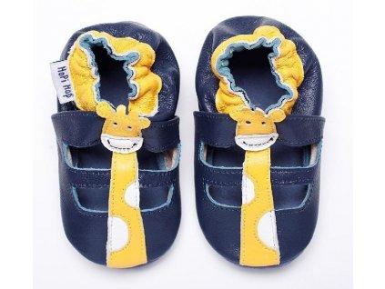 Kožené capáčky - sandálky Žirafa