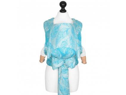 Fidella Fly Tai - Mei Tai - BABY SIZE - Feather Rain - scuba blue