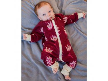 Merino rostoucí overal Baby Crawler - dlouhý rukáv