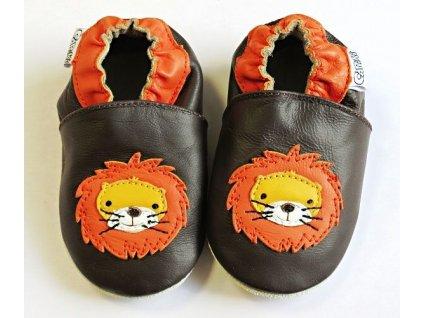 kožené capáčky lvíček