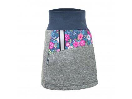 Dámská softshellová sukně s fleecem