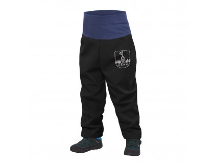 Batolecí softshellové kalhoty s fleecem + reflexní obrázek Evžen