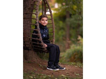softshellové kalhoty bez zateplení + reflexní obrázek Evžen