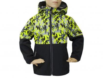 Dětská bunda Fantom maskáč/černá
