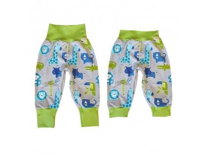 Dětské rostoucí kalhoty GROW - lehké (různé vzory)