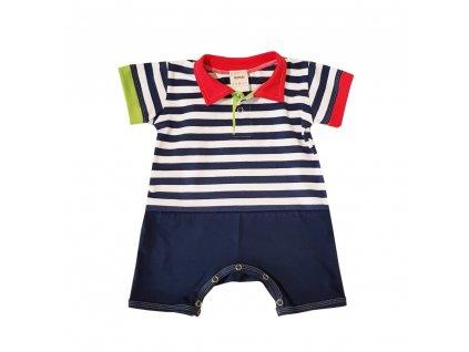 Dětský letní overal s límečkem NAVY námořník