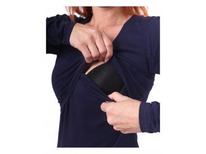 Kojicí šaty Elena, dlouhý rukáv - různé barvy