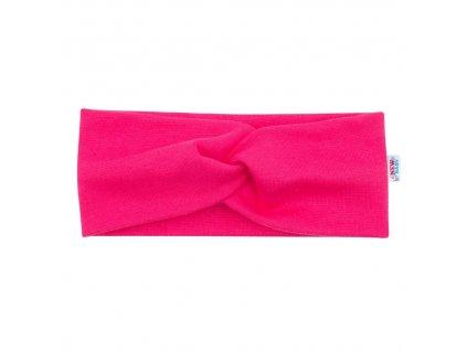 Kojenecká čelenka New Baby Style tmavě růžová 37 cm