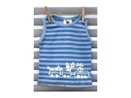 Tričko bez rukávů Kočičí ocásek - pearl blue/infinity