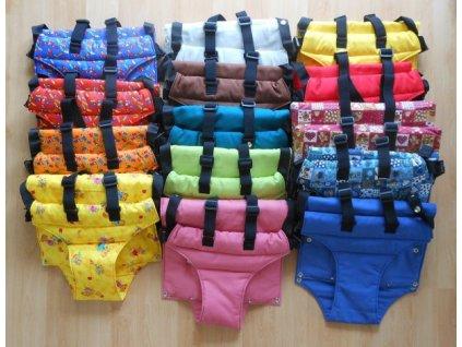 Vatelínové kalhotky s kšandičkami k rostoucí židli Jitro