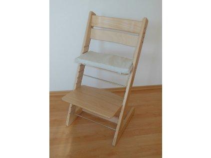 Rostoucí dětská židle Jitro Klasik - přírodní