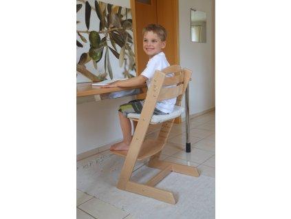 Rostoucí dětská židle Jitro Plus - přírodní