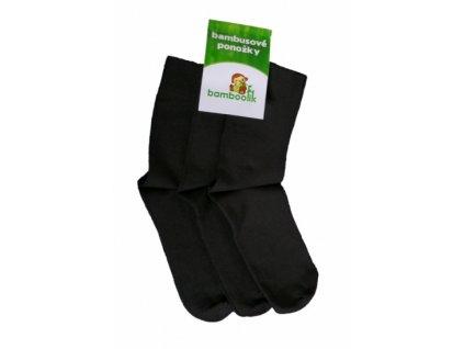 Bambusové černé ponožky pro dospělé - 3 páry