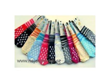 Ponožky DIBA tenké bavlněné protiskluzové