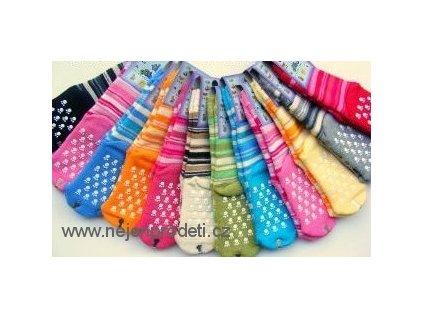 Ponožky DIBA froté protiskluzové