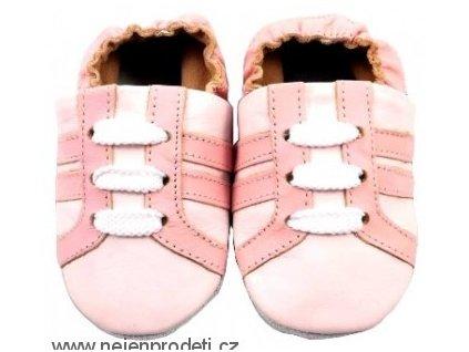 Capáčky MiniFeet tenisky růžové, 6-12 měs
