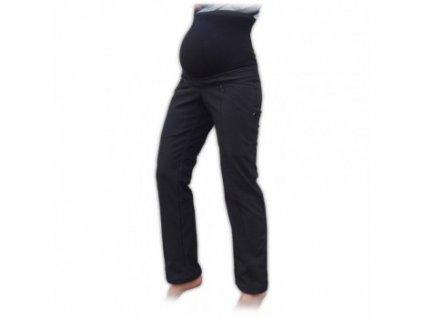Silvie - těhotenské softshellové kalhoty - černá