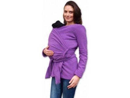 ZINA - těhotenský a nosící zavinovací fleecový kabátek