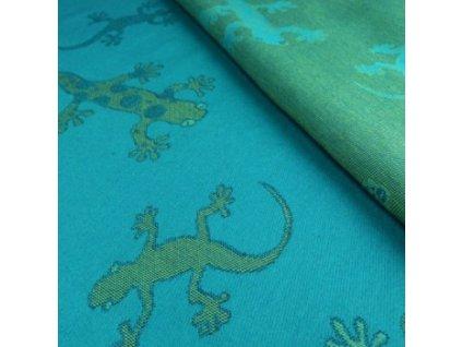 Šátek na panenky DIDYMOS Gekoni smaragd
