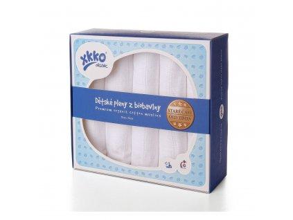 STARÉ ČASY - Dětské pleny z biobavlny XKKO Organic 70x70cm Bílé