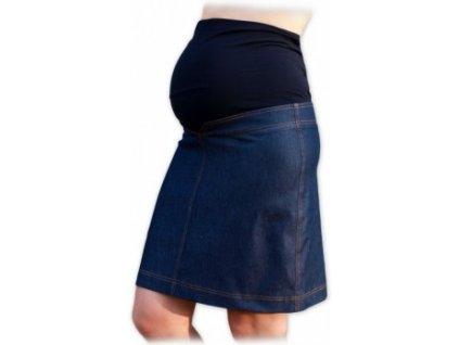 Klára - těhotenská riflová sukně ke kolenům - jeans 29df78dc23