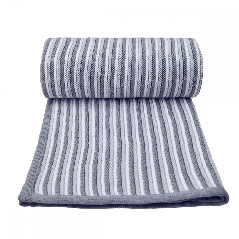 Dětská pletená deka Spring T-tomi Barva: bílo-šedá