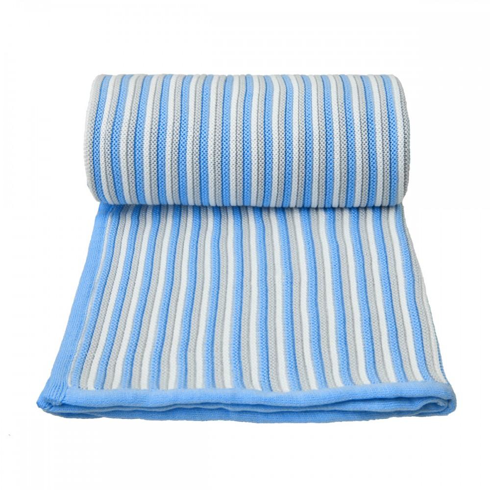 Dětská pletená deka Spring T-tomi Barva: bílo-modrá