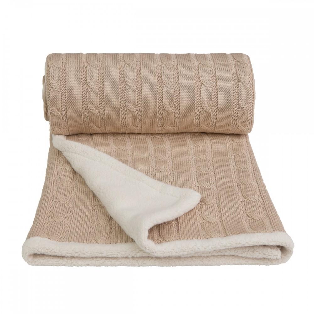 Dětská pletená deka Winter T-tomi Barva: béžová