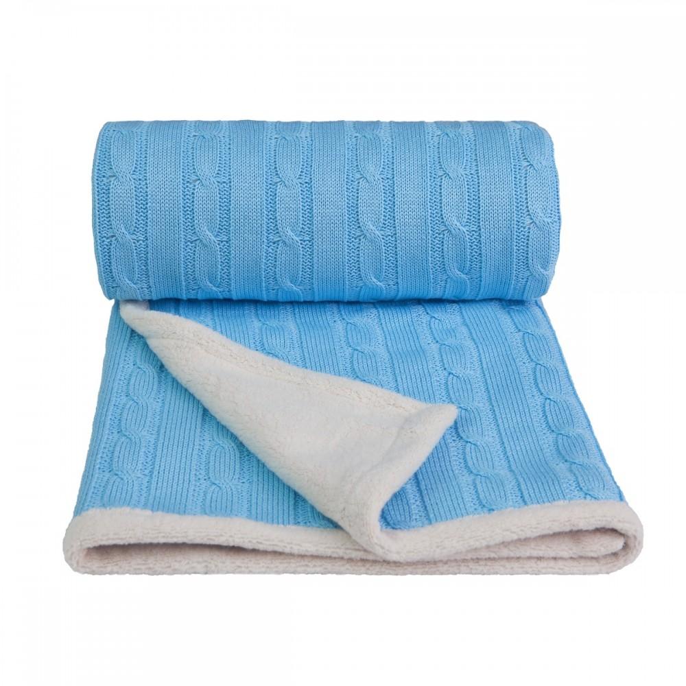 Dětská pletená deka Winter T-tomi Barva: modrá