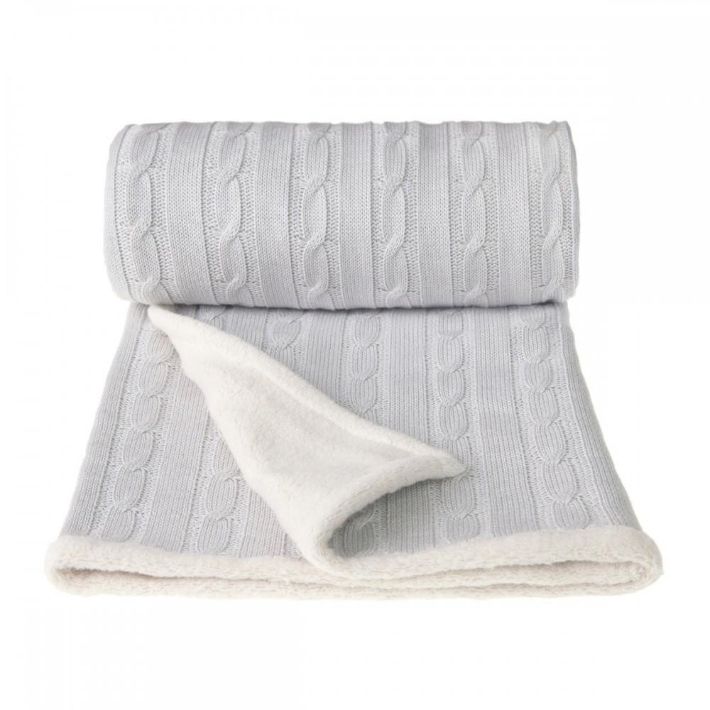 Dětská pletená deka Winter T-tomi Barva: šedá