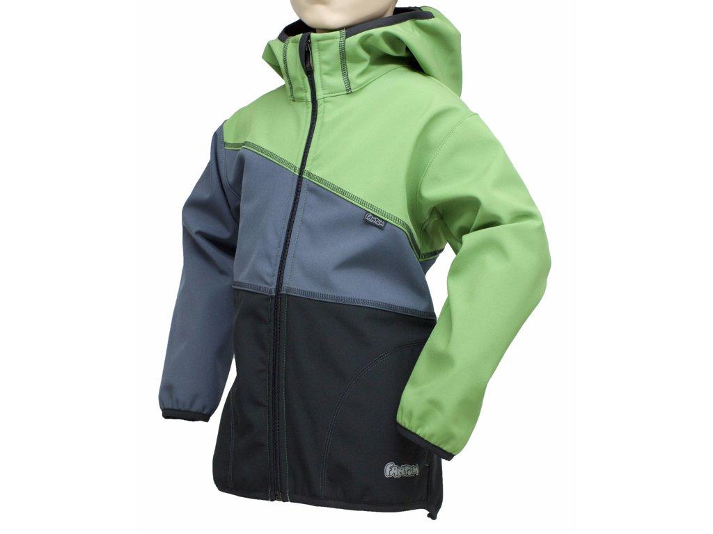 Fantom ČR Dětská bunda Fantom SOFTSHELL trojbarevná (různé varianty) Barva: černo-šedo-kiwi,