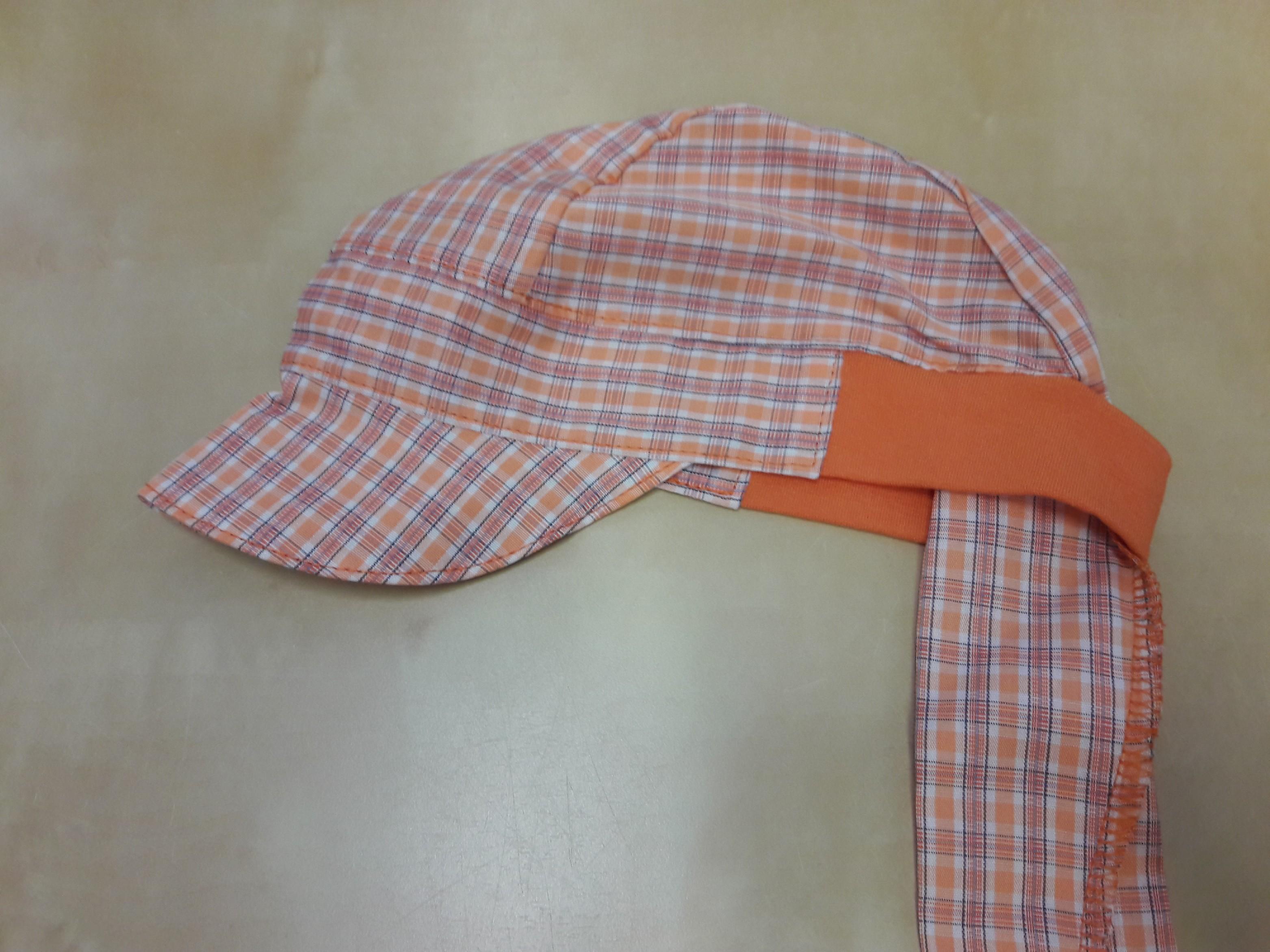 9e0edf397fe Fantom ČR Pirátský šátek s kšiltem Fantom Velikost a vzor  42-44 - oranžová