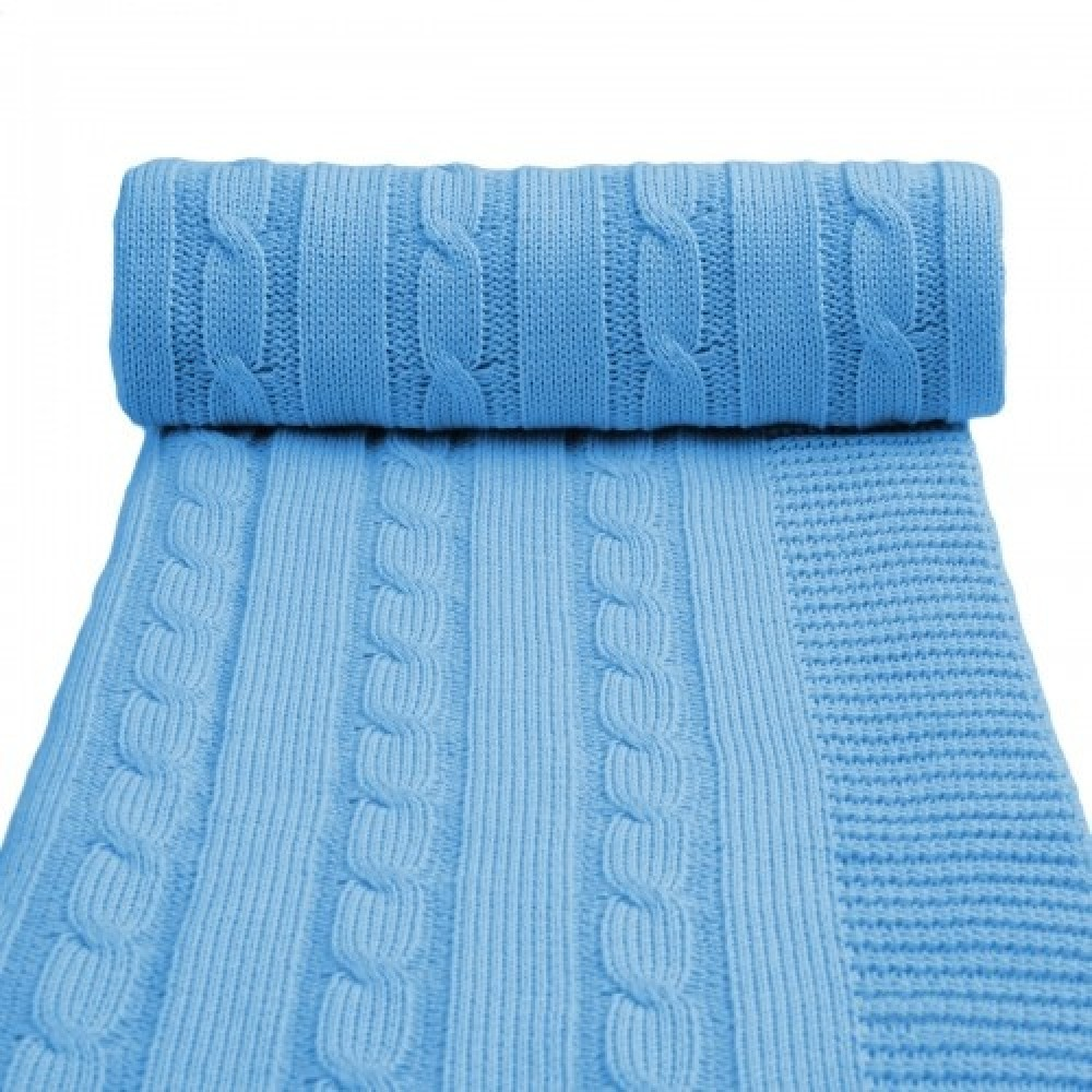 Dětská pletená deka T-tomi Barva: modrá