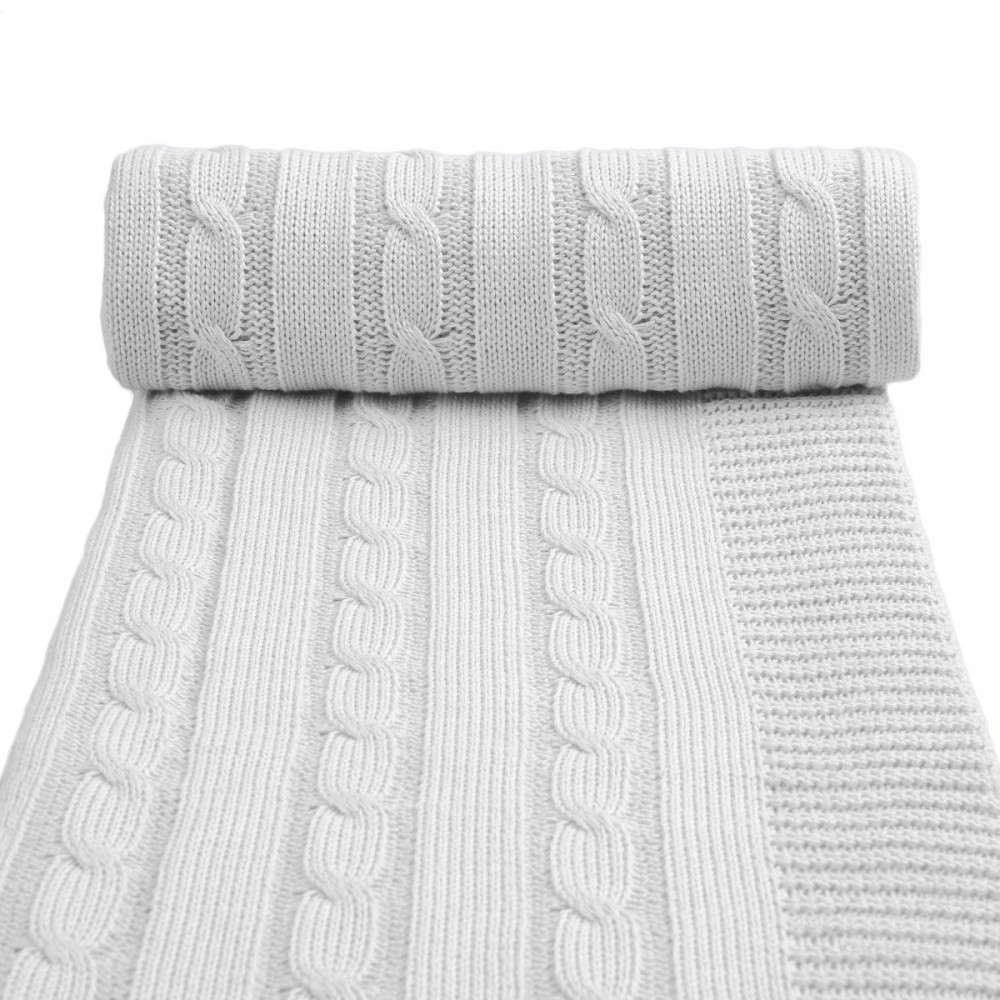 Dětská pletená deka T-tomi Barva: šedá