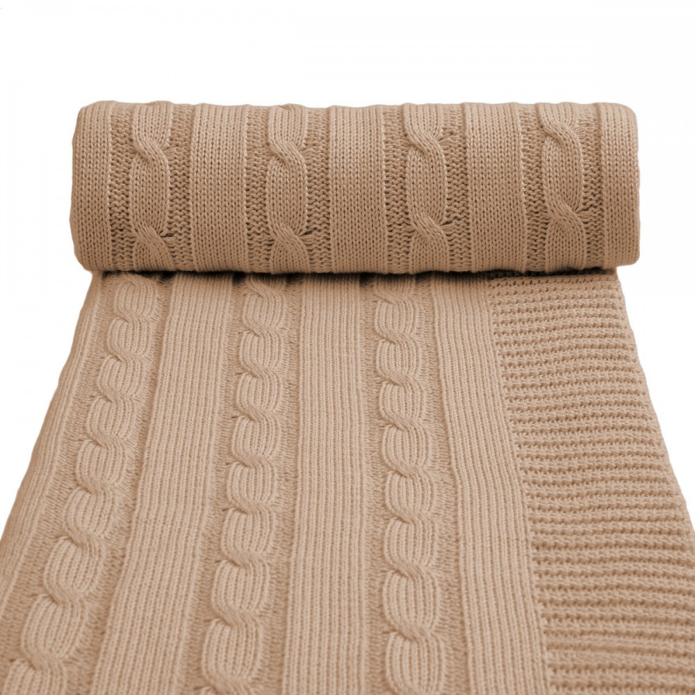 Dětská pletená deka T-tomi Barva: béžová