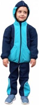 Jožánek Dětská softshellová bunda Barva: tmavě modrá/tyrkys, Velikost: 98/104