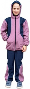 Jožánek Dětská softshellová bunda Barva: růžová/tmavě modrá, Velikost: 98/104