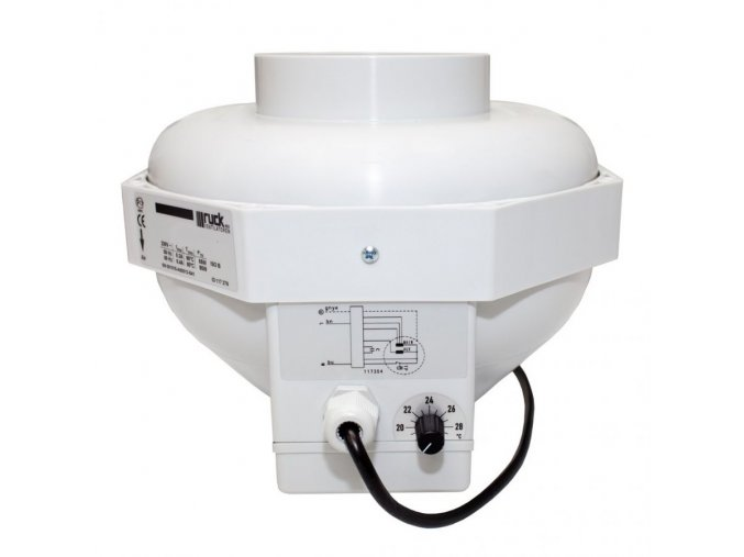 Ventilátor CAN-Fan RKW 125L, 350 m3/h, příruba 125mm