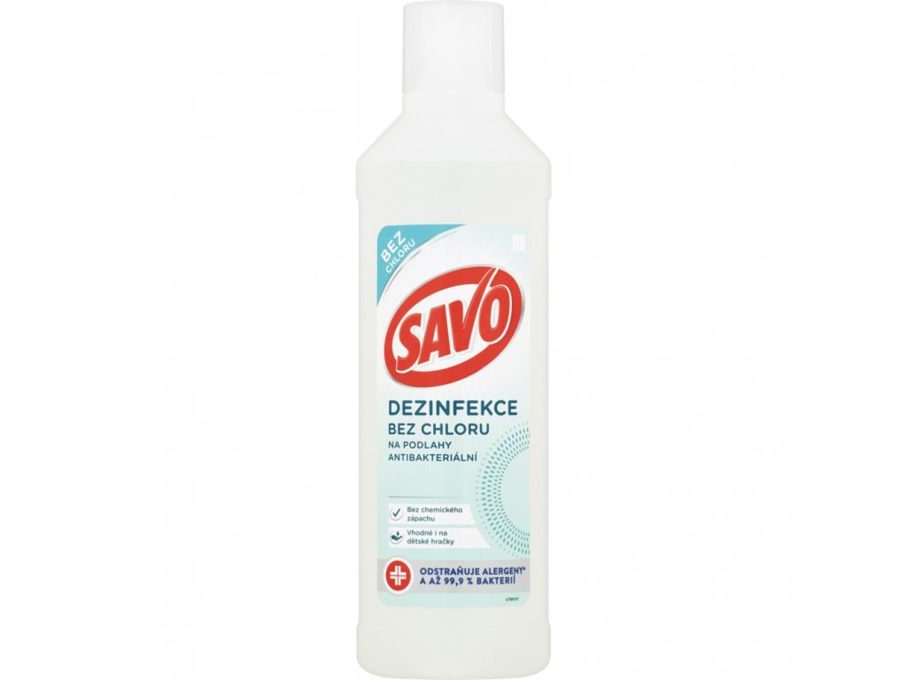 700372 savo bez chloru na podlahy antibakterialni 1 l