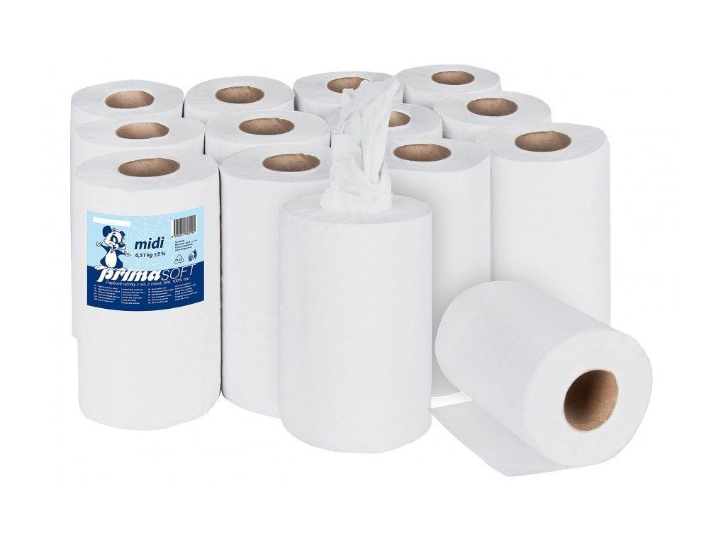 Papírové role midi 2vr. recykl (222) bal/12rol