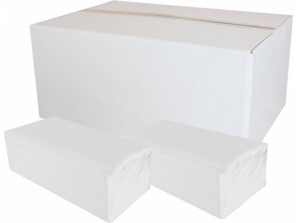 Papírové ručníky ZZ bílé 2vr.celuloza 3000ks (240)