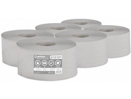 Toaletní Papír Jumbo průměr 19cm/1vr. recykl bal/6rol (204)