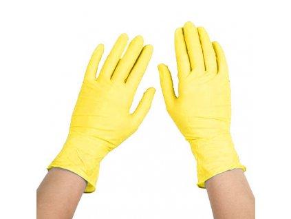 Rukavice úklidové Quick žluté vel. S,M,L,XL